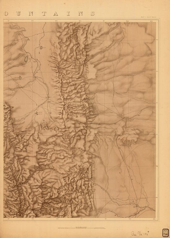 18 x 24 inch 1876 US old nautical map drawing chart of ROCKY MOUNTAINS MAP NO. 1 EAST HALF From  NOAA x272