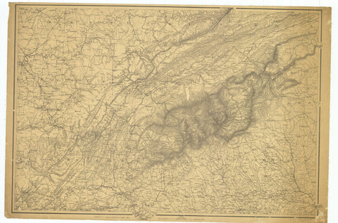 18 x 24 inch 1865 US old nautical map drawing chart of Civil War Map From  U.S. Coast Survey x3852