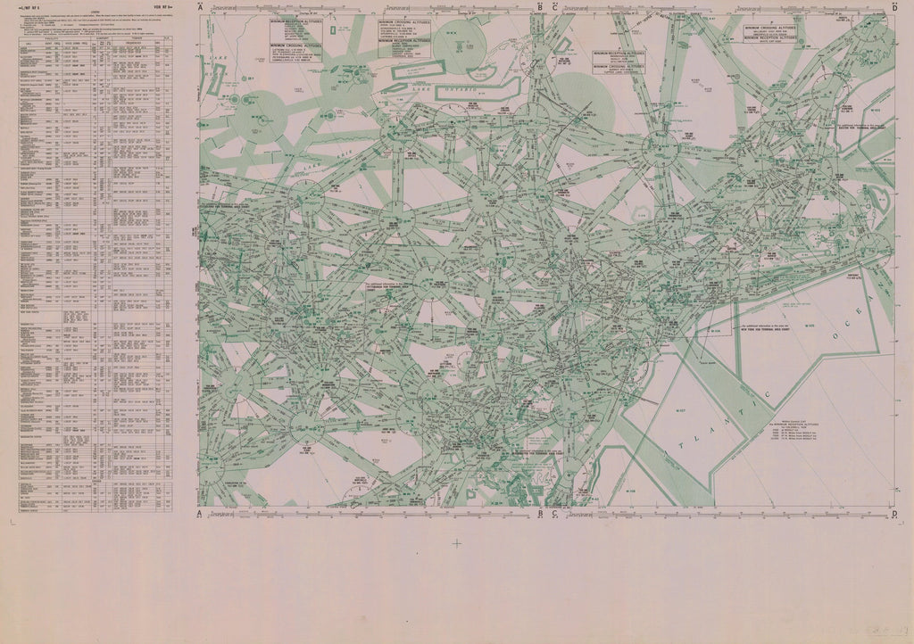 18 x 24 inch 1956 USA old nautical map drawing chart of US RF 8 From  NOAA x12020