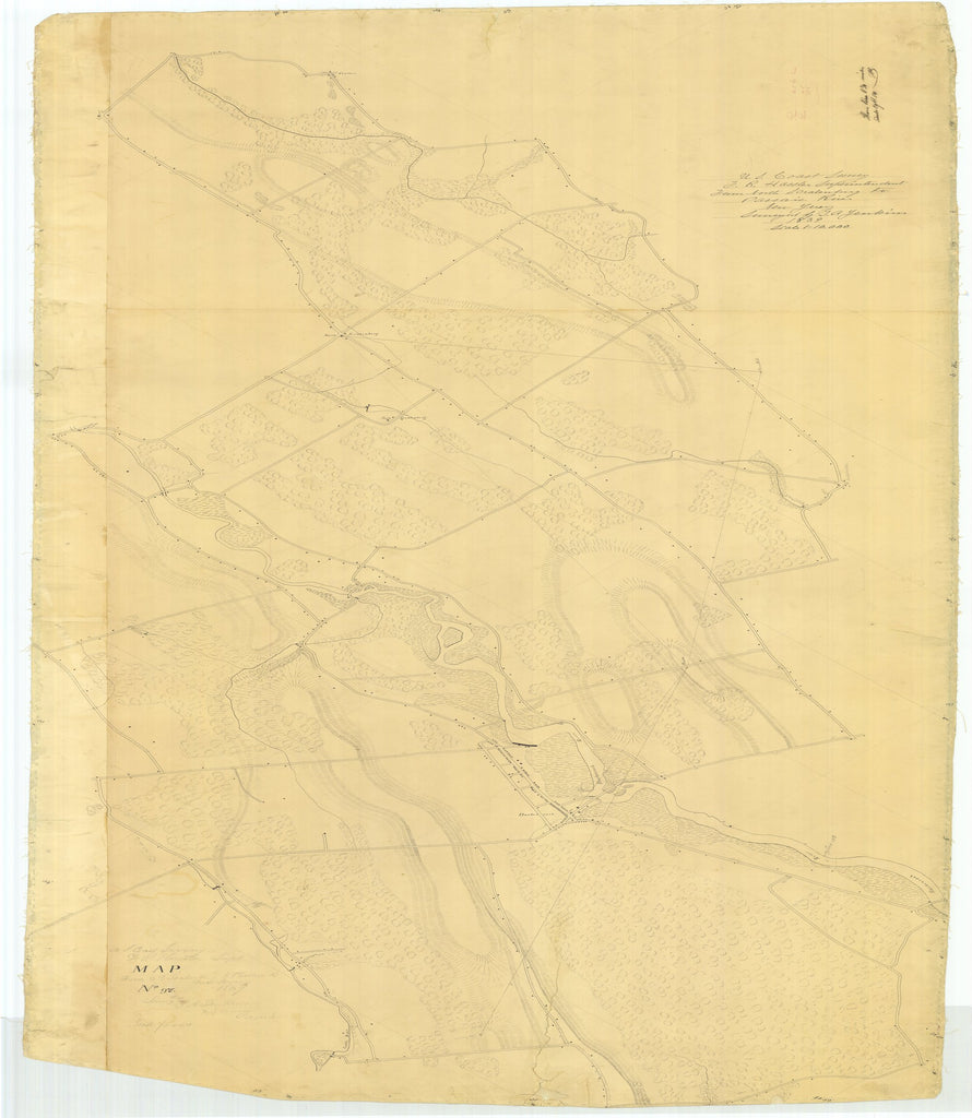 18 x 24 inch 1839 US old nautical map drawing chart of From North Scralenberg to Passaic River From  U.S. Coast Survey x6071