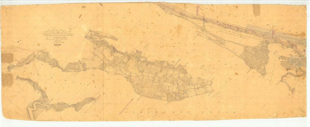 18 x 24 inch 1848 US old nautical map drawing chart of Currituck Sound, Jew Quarter Island to Collington Island and North River, NC From  U.S. Coast Survey x5485