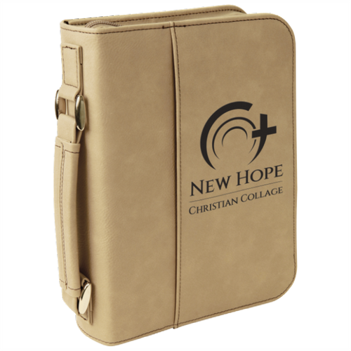 Bible Cover, Leatherette with Handle and Zipper.  6 3/4