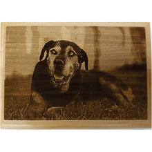 Photo Engraved Wood Plaque