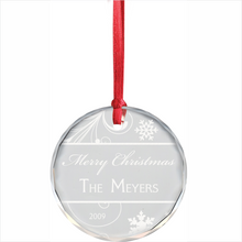 Round Crystal Christmas Ornament