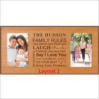 "Double 4"" by 6"" Photo Frame"