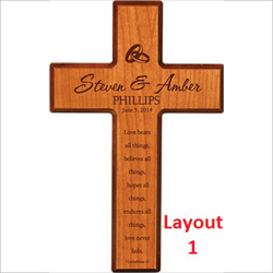 "7"" x 11"" Wooden Cross"