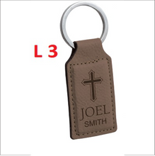 Leather Rectangle Key Chain