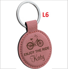 Leather Round Key Chain