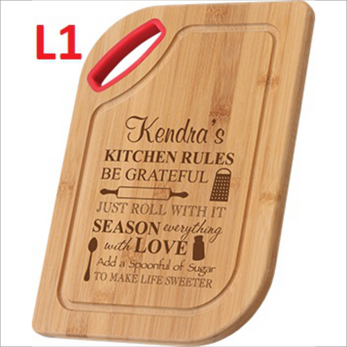 Bamboo Cutting Board With Silicone Handle