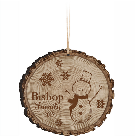 Barky Round Christmas Ornament