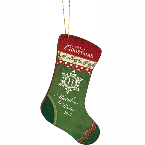 Stocking Shaped Christmas Ornament