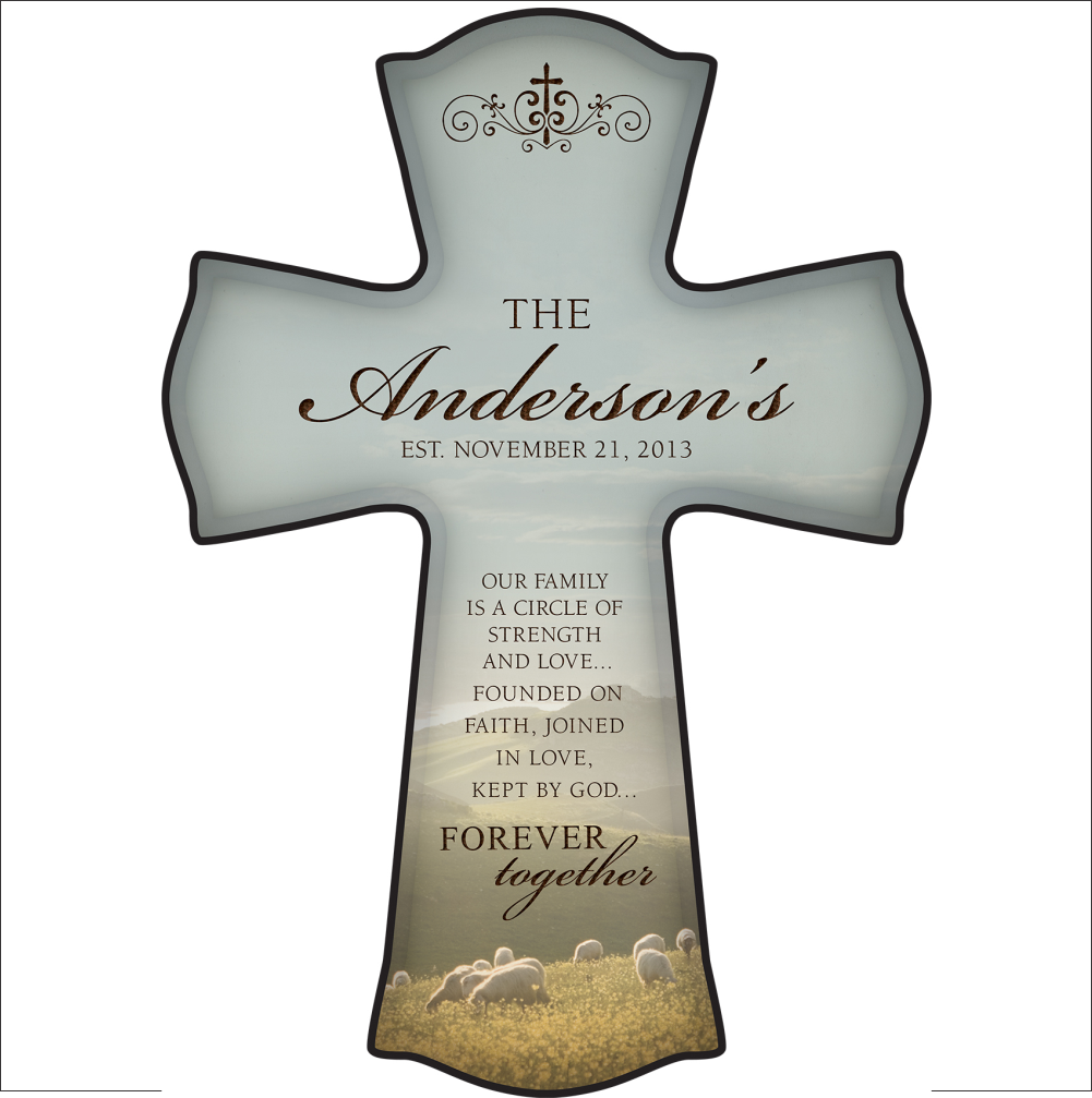 Printed Forever Together Cross