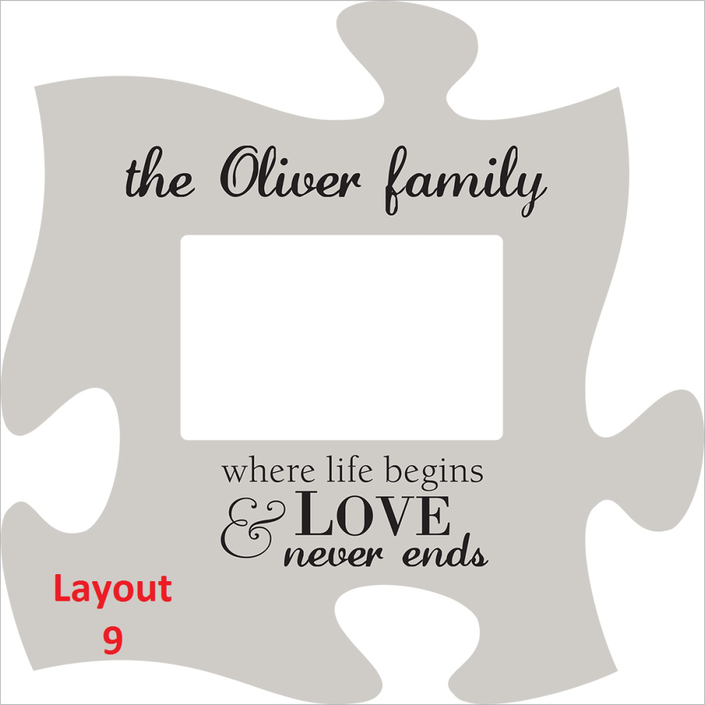 12 \' Puzzle Plaque Photo Frame – 5 Points Custom Laser Engraving
