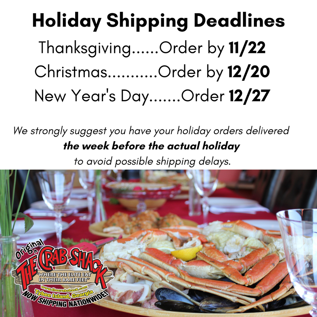 Place Your Holiday Orders EARLY
