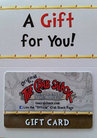 The Crab Shack Restaurant Gift Card FOR REDEMPTION ONLY AT THE CRAB SHACK