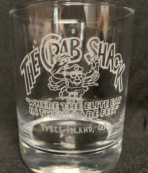 Crab Shack Etched Bar Glass