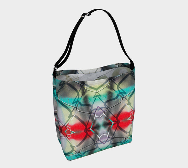 "Chain-link Graffiti Tote Bag (18""w x 14""h)"