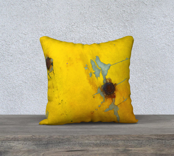 """Distressed Yellow"" Pillow Case (18x18"")"