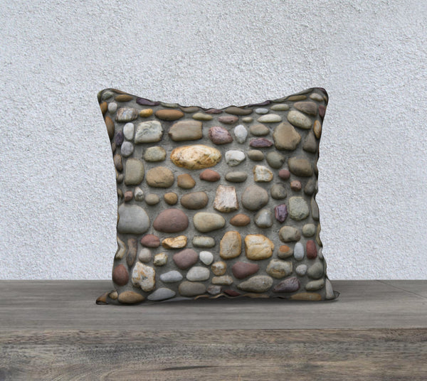 "Rock Wall Pillow Case (18x18"")"