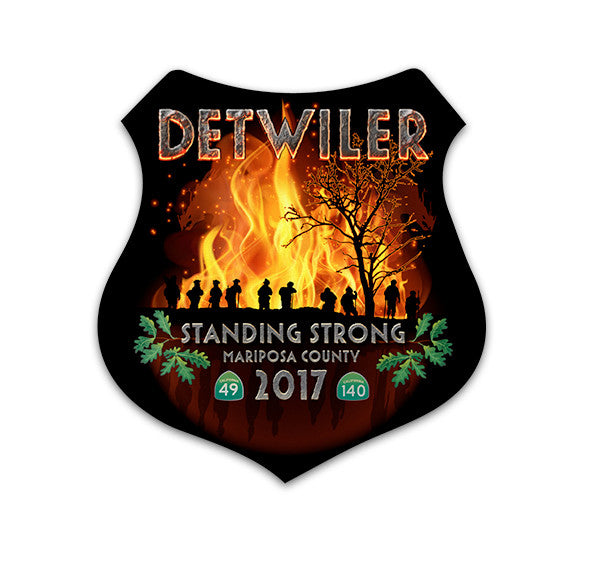 Detwiler Fundraiser - Fire Decal