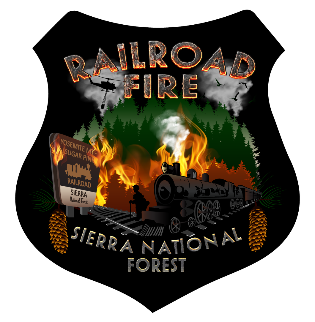 Railroad Fire Decal