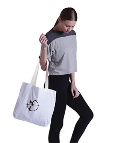 Branded Logo Small Market Canvas Tote