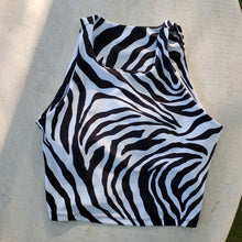 Everywear Activewear Crop Zebra Black and White for hot yoga and pilates