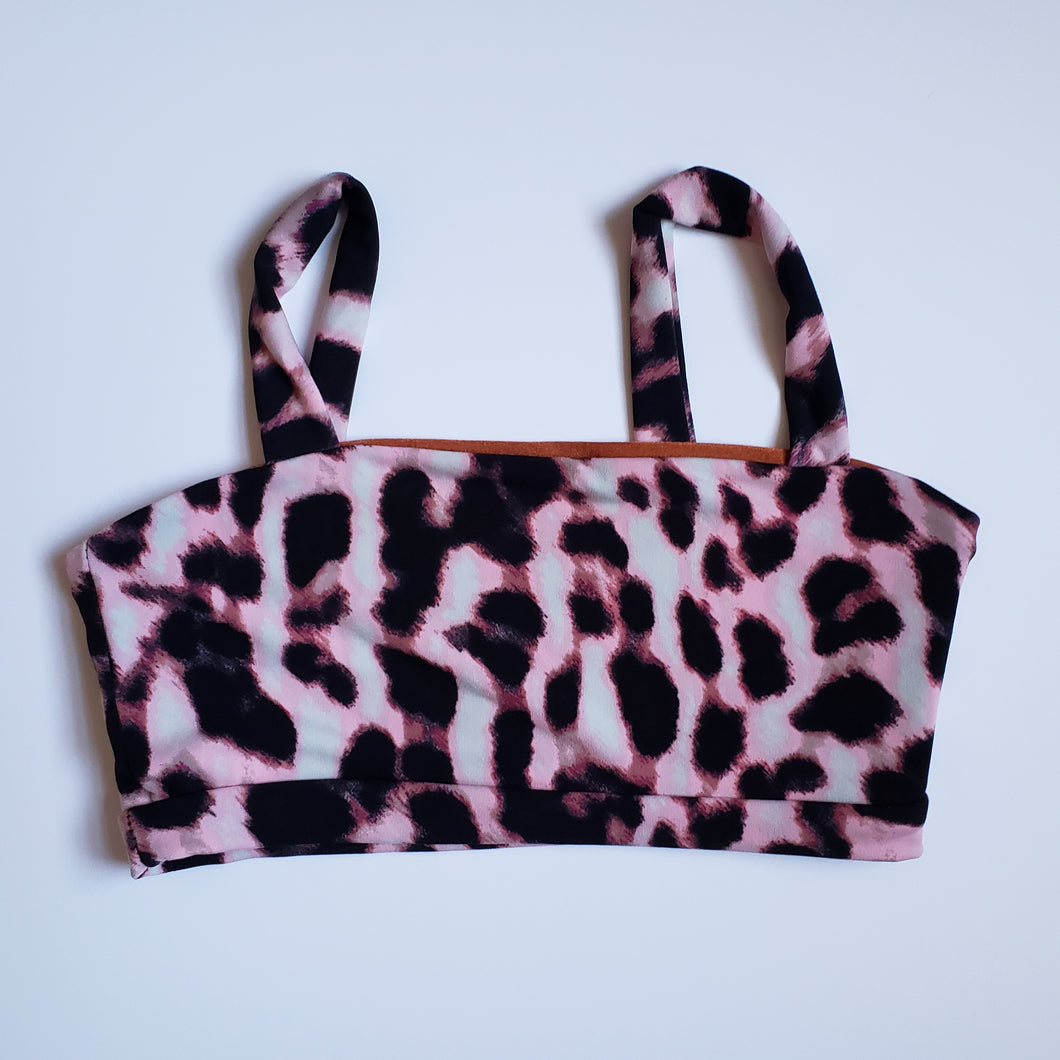 Demi Top Pink and Brown Leopard SAMPLE