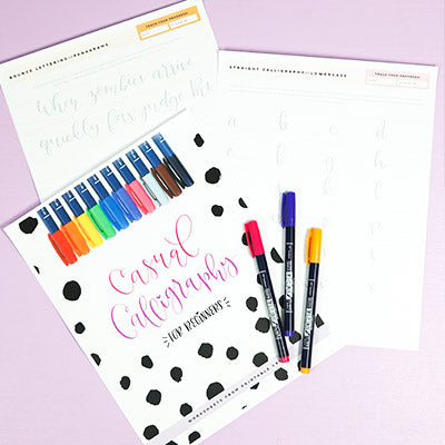 Casual Calligraphy Worksheets