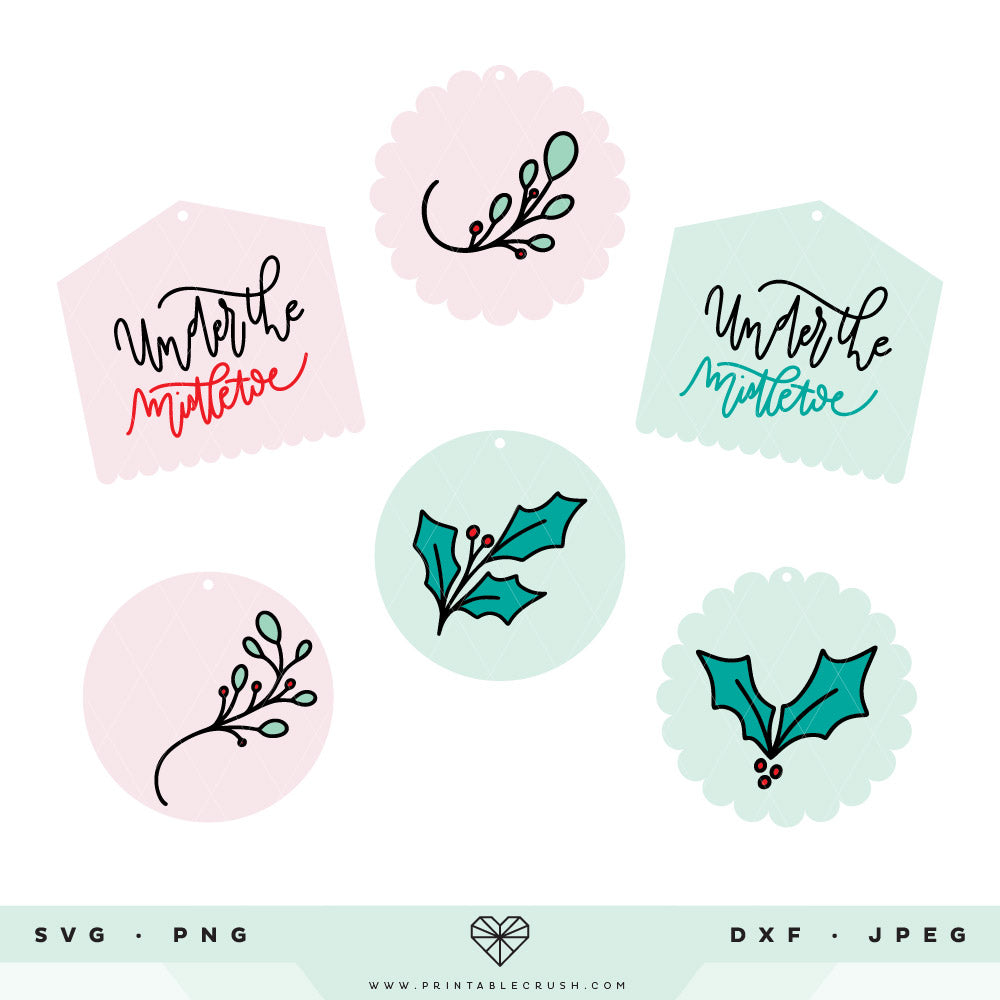Hand Drawn Christmas Tag SVG Files