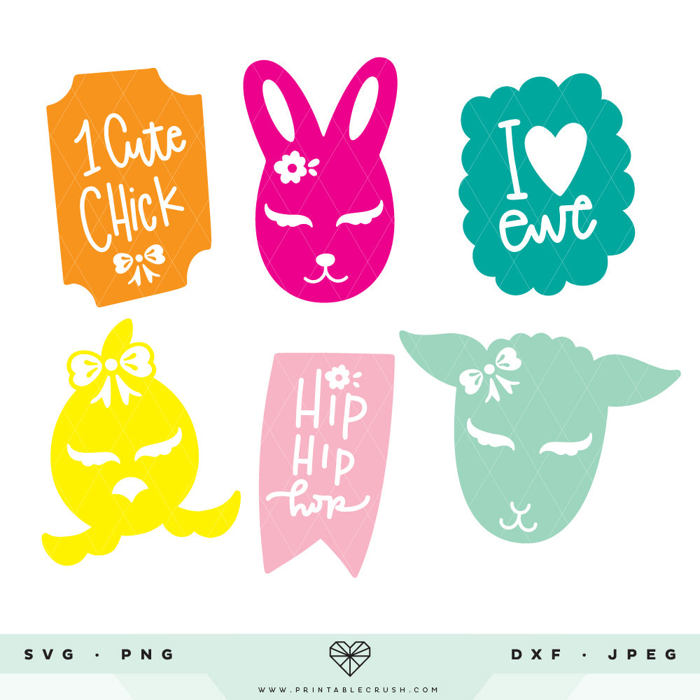 Spring Animals SVG Cut Files