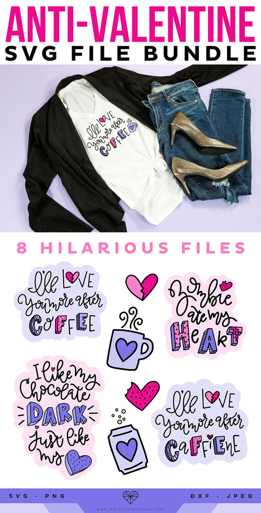 8 Funny Anti-Valentine SVG Files