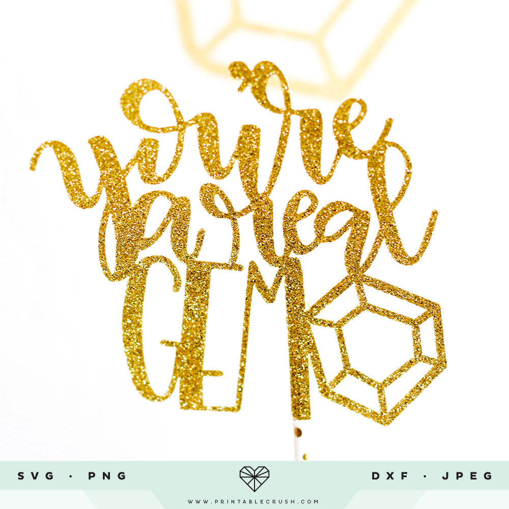 18 Hand Drawn and Hand Lettered Gem SVG Files