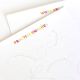 Hand Lettering Worksheets for Kids