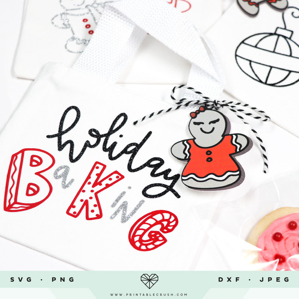Hand Drawn Gingerbread SVG Files