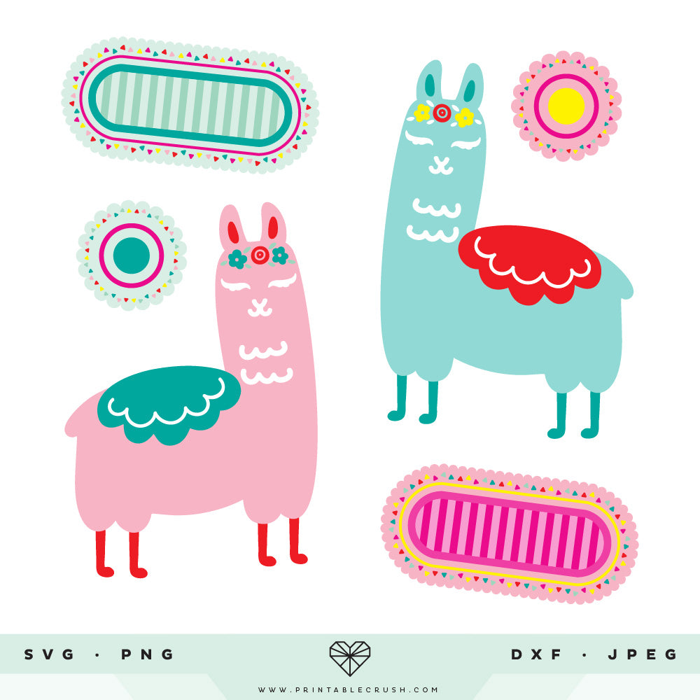 Llama SVG Cut Files