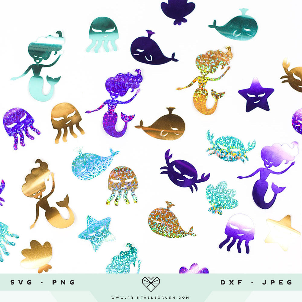 Mermaid SVG Cut Files