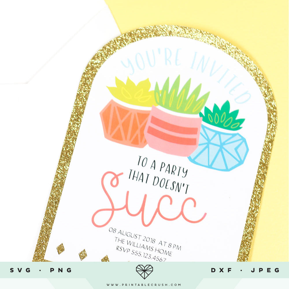 Potted Cacti and Succulents SVG Cut Files