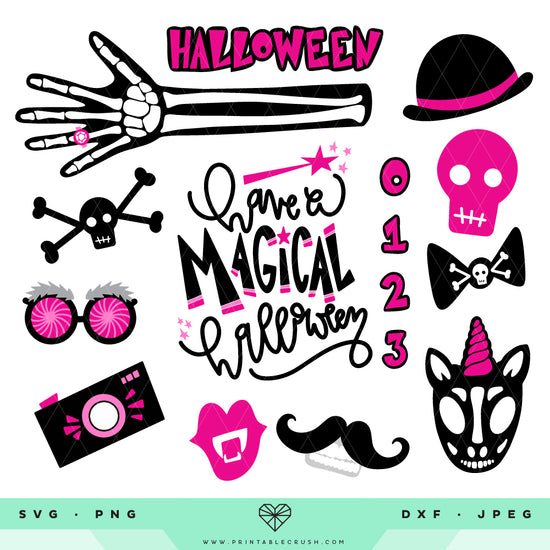photograph about Halloween Photo Booth Props Printable Free referred to as Halloween Image Booth Props - Printable Crush