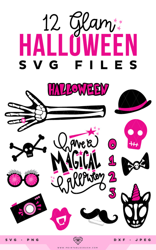Glam Halloween SVG Files