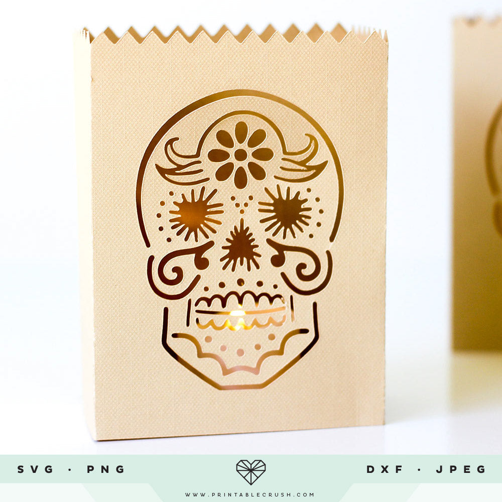 Hand Drawn Sugar Skull SVG File