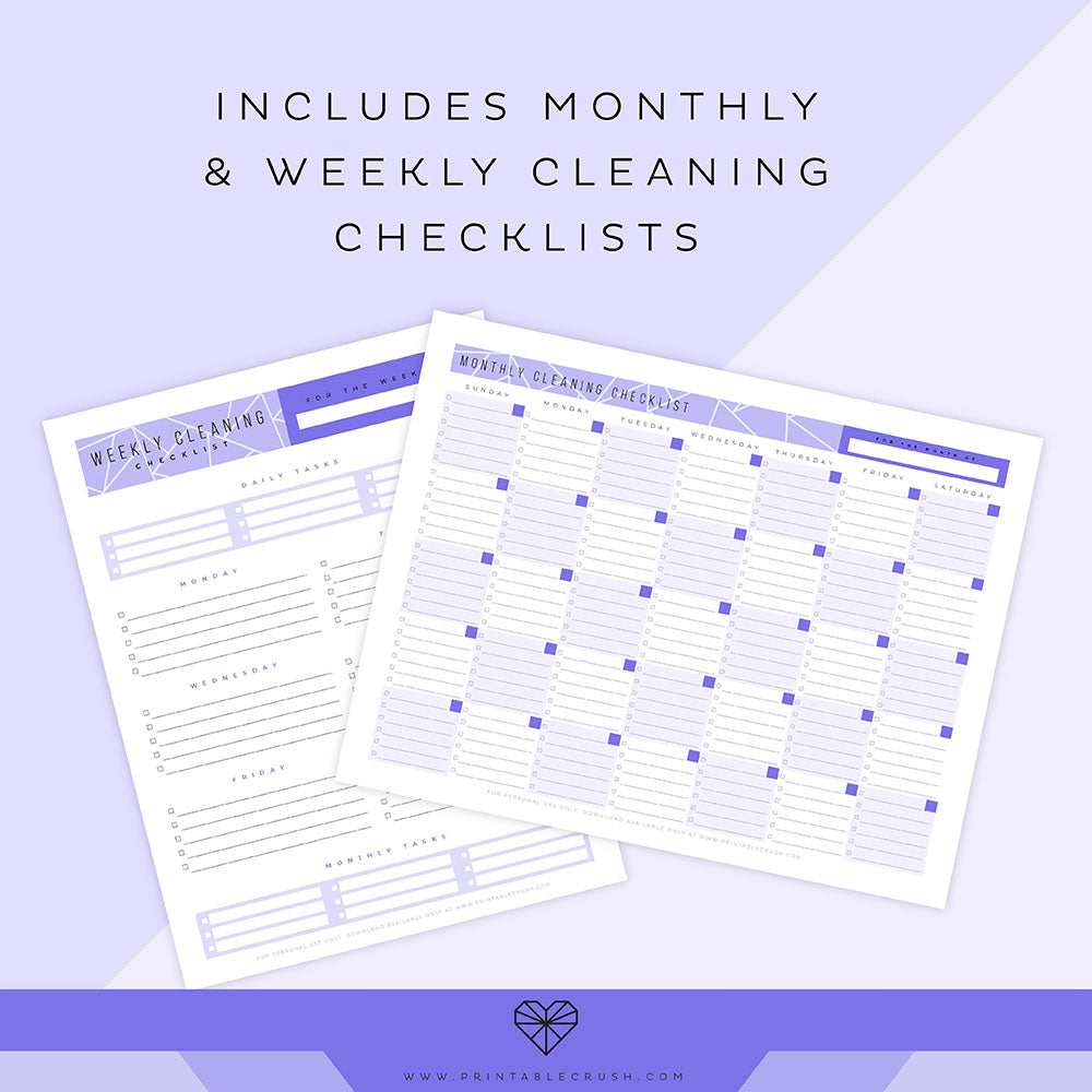Editable Cleaning Checklist Printable Set