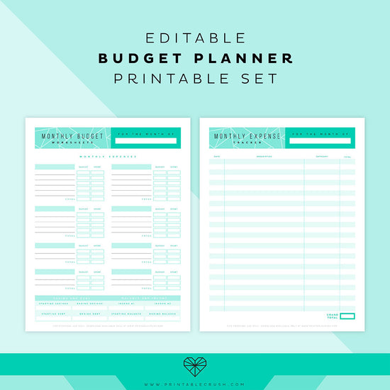 image about Printable Budget Planner titled Price range Sheet - Keep track of Every month Funds Applying Absolutely free Printables