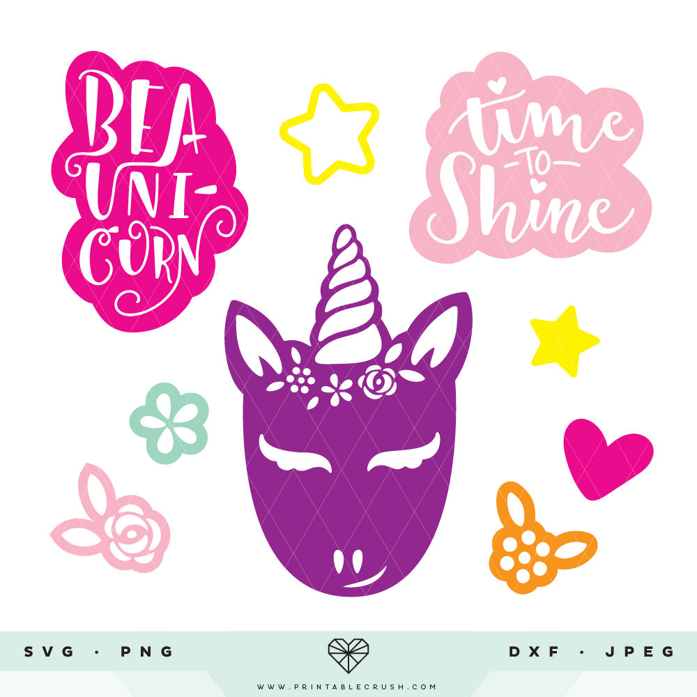 Hand Drawn Unicorn SVG Cut Files