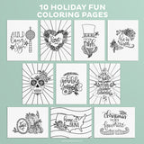 Holiday Fun Coloring Pages