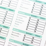 Simple Editable Budget Worksheets