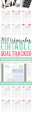 Watercolor Editable 2018 Goal Tracker Printable