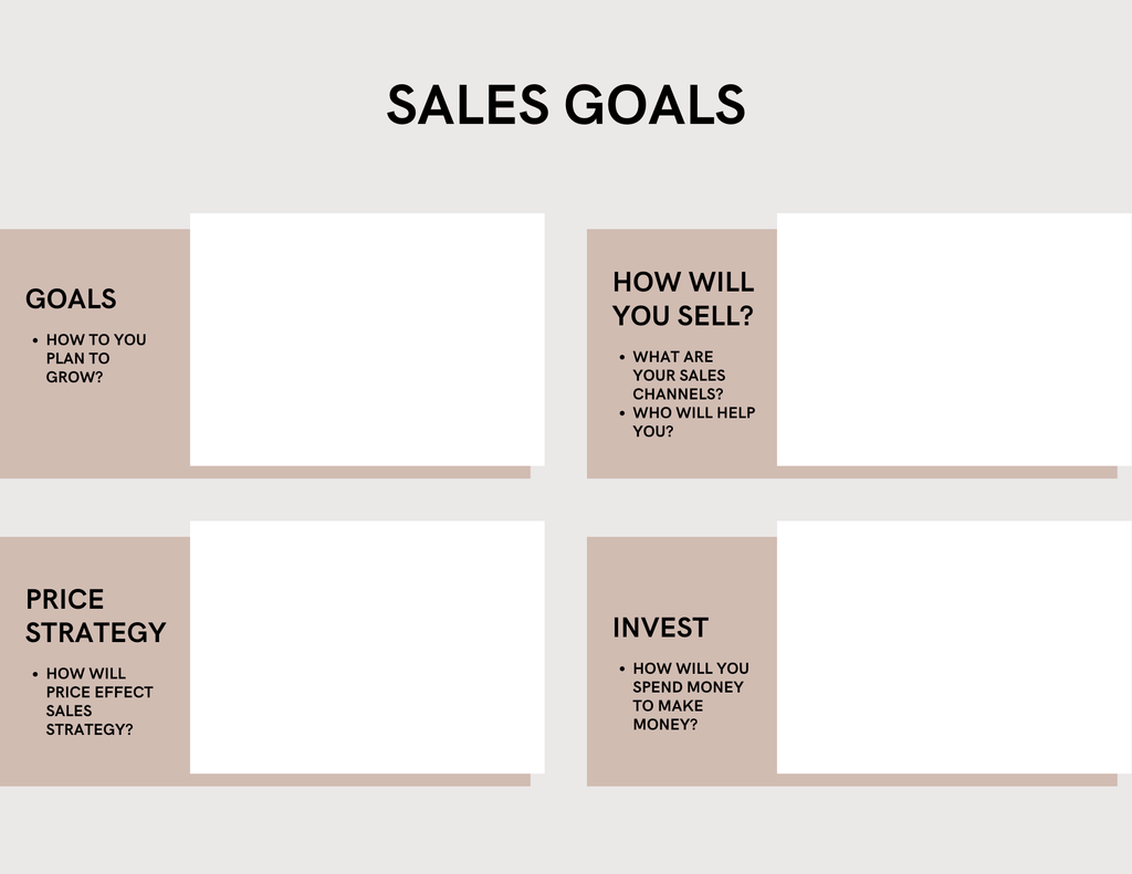 clothing line business plan template sales strategy