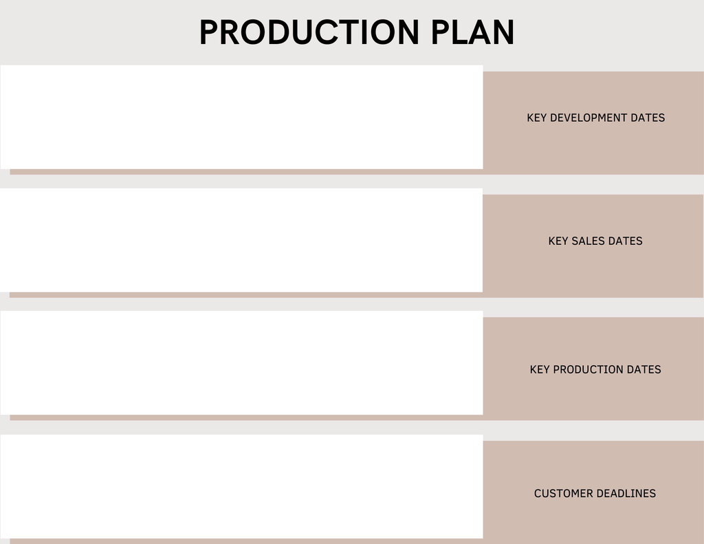 clothing line business plan production