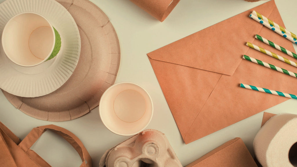 sustainable tags and paper products made from recycled paper